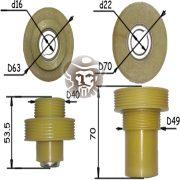Комплект шкивов для станка ИЭ-6009А4.2-02 Могилёвлифтмаш