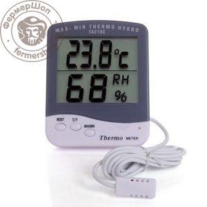 Гигрометр-термометр с выносным датчиком